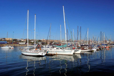Yachts in Port Elizabeth harbour