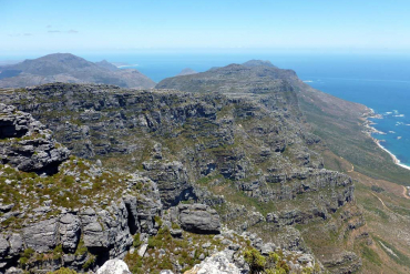 View from Table Mountain towards Cape Point