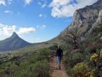 Hiking up Table Mountain Cape Town