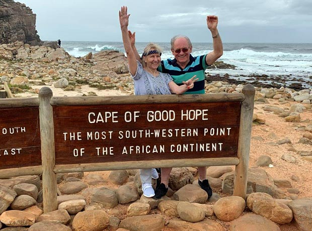 Margit & Alfred at Cape of good hope