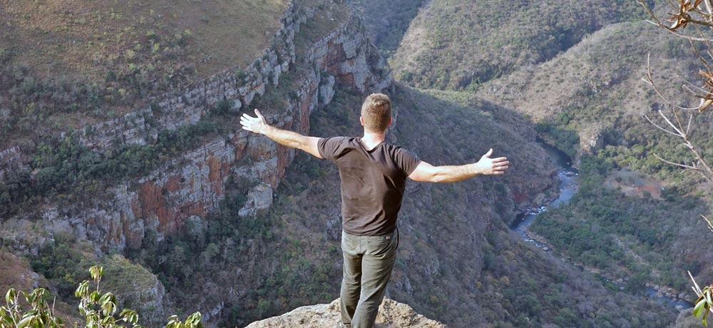 View across Blyde river canyon